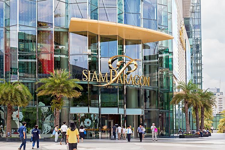 крупный люксовый торговый центр Siam Paragon