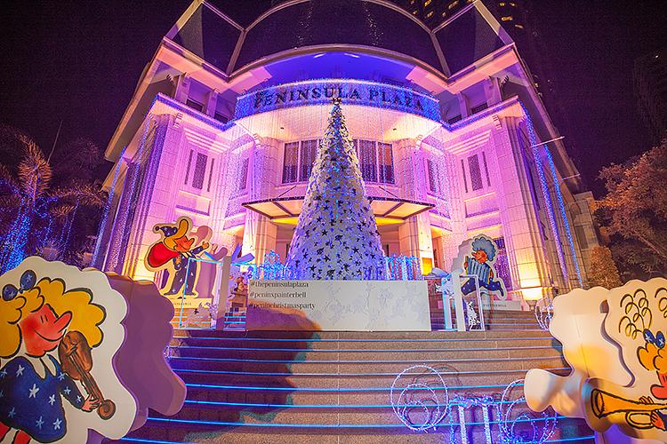Новогодняя иллюминация ТЦ Peninsula Plaza
