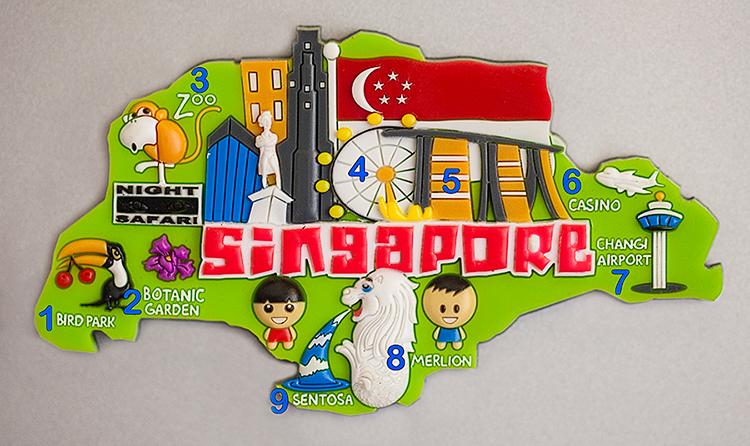 Сувенирный магнит из Сингапура